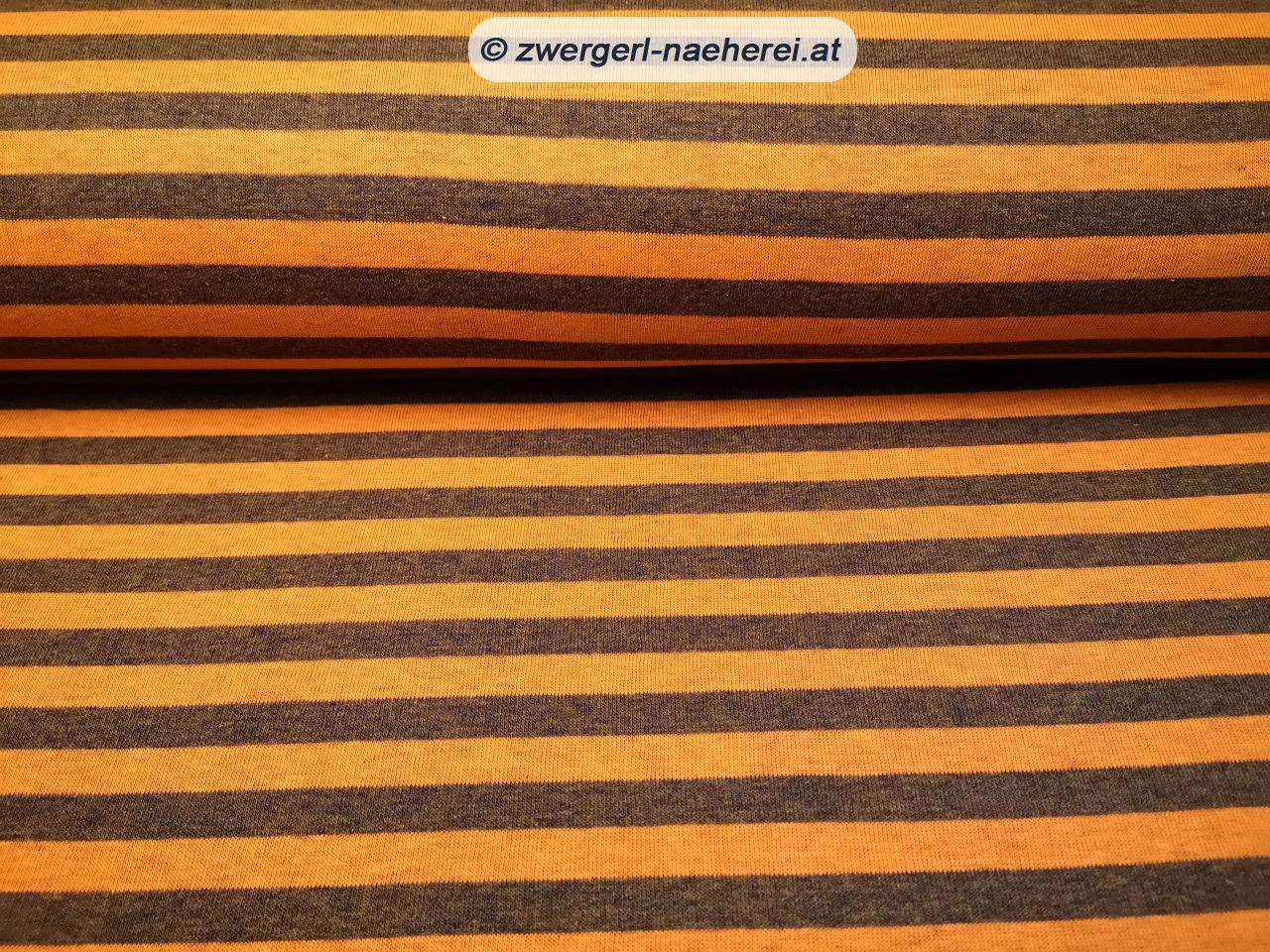 Stoff-Wintersweat-Leicht-Blockstreifen-orange-1